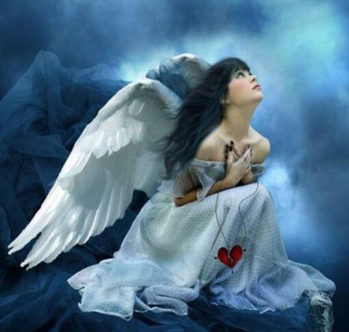 Angel in Blue - Spiritual Veda